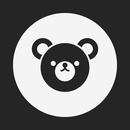 bear doll: toy bear doll icon Illustration