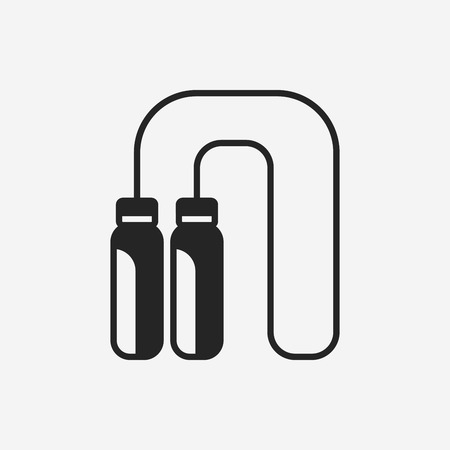skipping rope: toy skipping rope icon