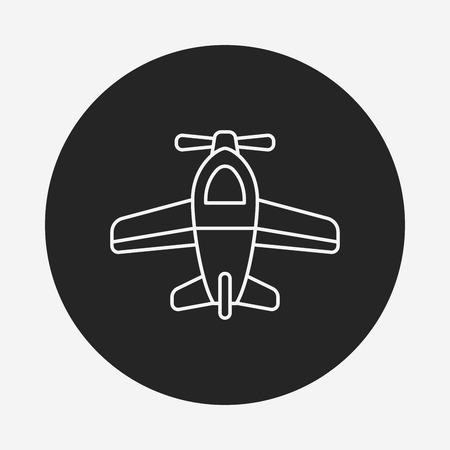 toy airplane icon Illustration