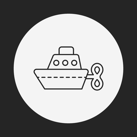 toy boat: toy boat icon