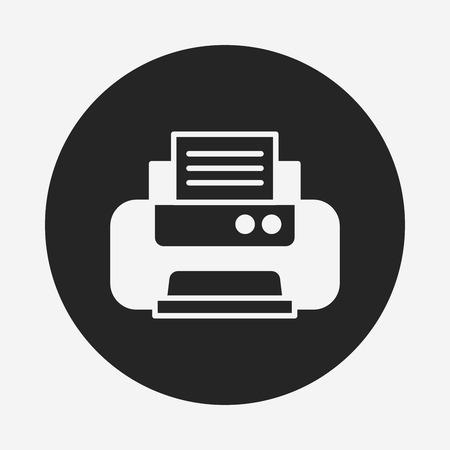 printer icon Stock Vector - 40856510