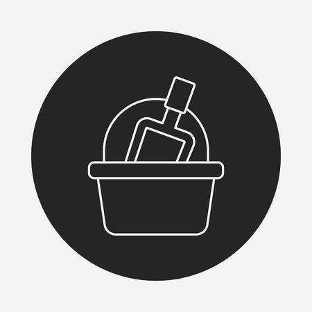 piasek: toy sand bucket icon