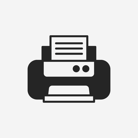 inkjet: printer icon Illustration