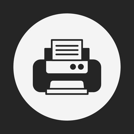 printer icon Stock Vector - 40856782