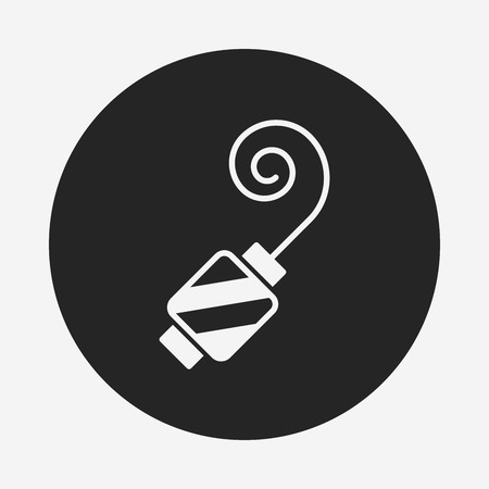 party horn blower: birthday party horn icon Illustration