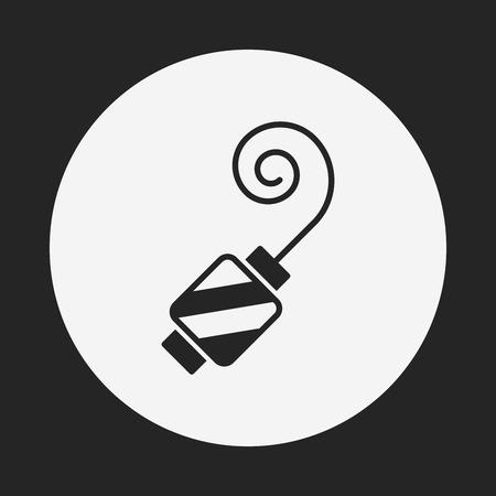 fiesta de cumpleanos: cumplea�os icono de cuerno de partido Vectores