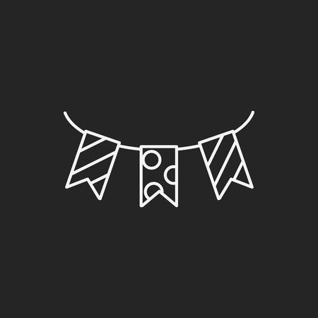 ruban noir: anniversaire ic�ne de la ligne de ruban