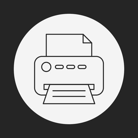 printer line icon Stock Vector - 40857777