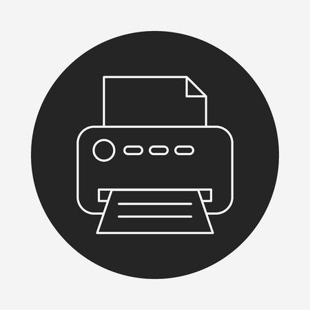 printer line icon Stock Vector - 40857784