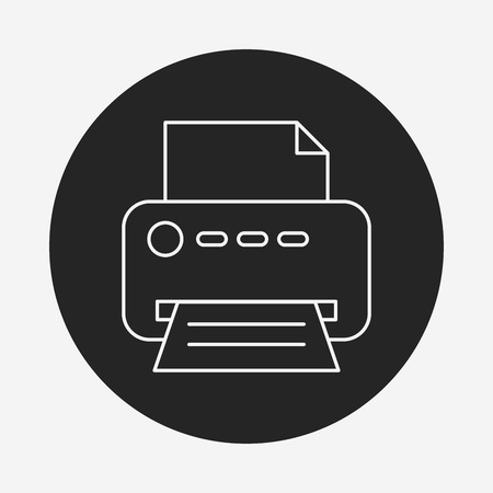 printer line icon Stock Vector - 40857785