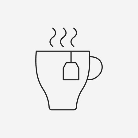 food and drinks: hot coffee line icon