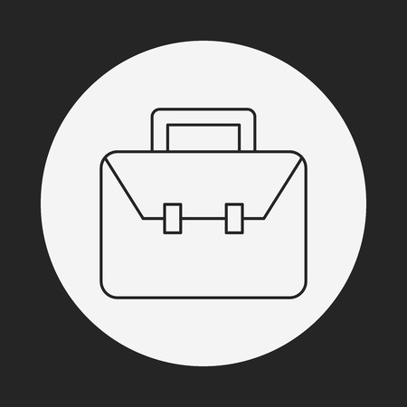 business case: briefcase line icon