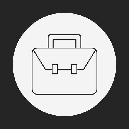 estuche: icono de línea maletín