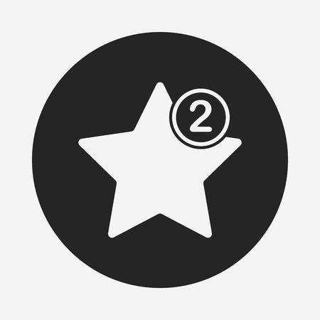 favorite colour: web favorite icon Illustration
