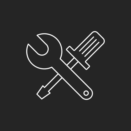 computer tool line icon Vector