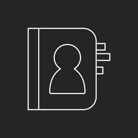 contact person: contact person line icon Illustration