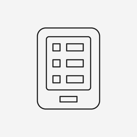 phone line: cell phone line icon Illustration