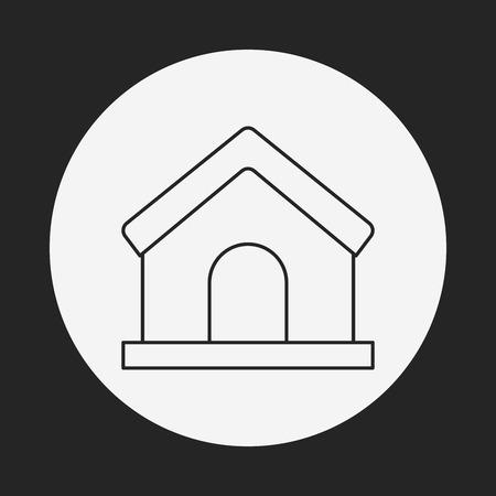 home line: web home line icon Illustration