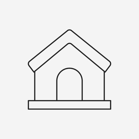 home icon: web home line icon Illustration