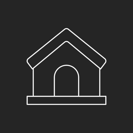 residential house: web home line icon Illustration
