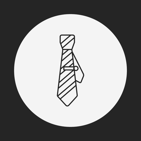 dresscode: Necktie line icon