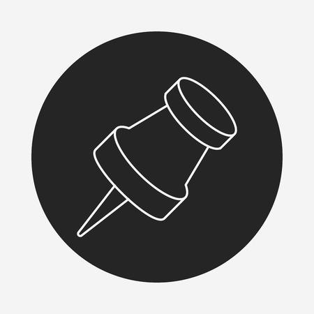 tack: pushpin line icon Illustration