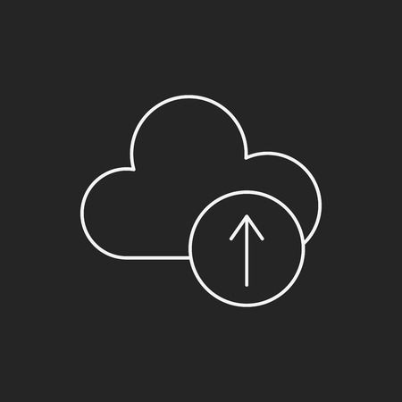 icloud: i-cloud line icon Illustration