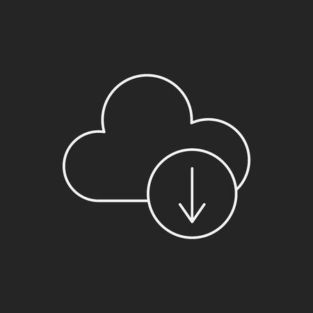icloud: i-cloud line icon Illustration