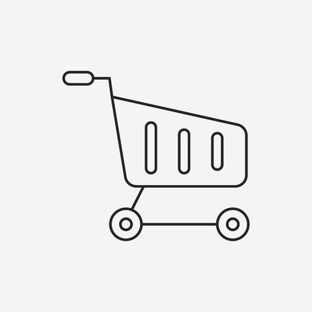 shopping cart icon: web shopping cart line icon