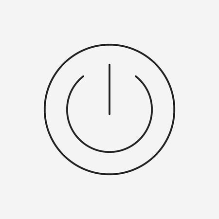 power button: Power button line icon