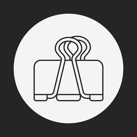 binder: Binder Clip line icon
