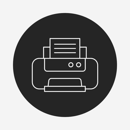 printer line icon Stock Vector - 40864527