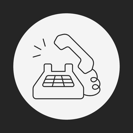 phone line: phone line icon