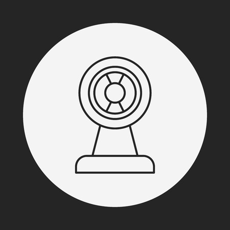 cam: video cam line icon