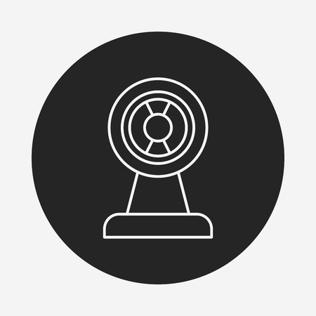 cams: video cam line icon