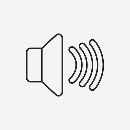 sound record line icon Vector