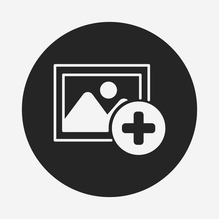 face book: icono del soporte de fotos