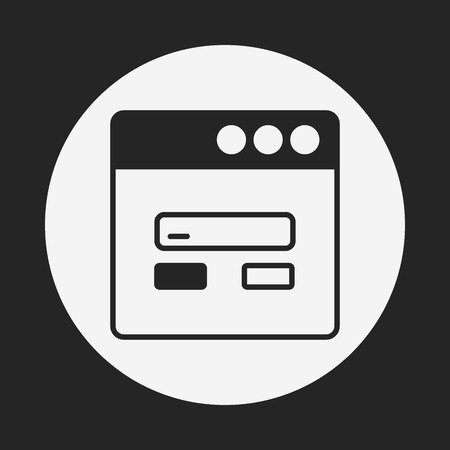 web elements: web page icon