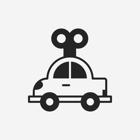 toy the car: toy car icon Illustration