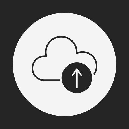 icloud: i-cloud icon