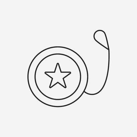 yoyo: toy yo-yo icon