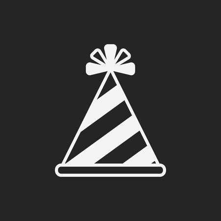 party hat: birthday hat icon Illustration