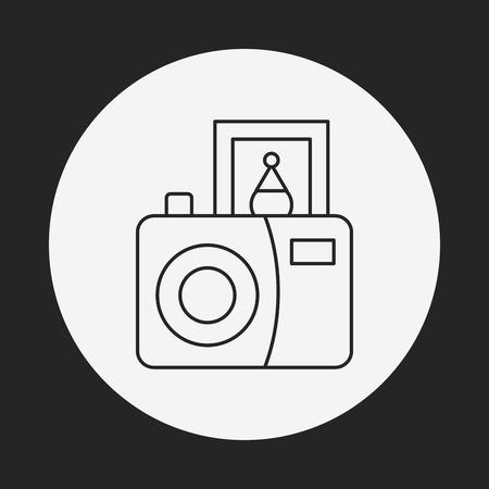 metering: camera line icon