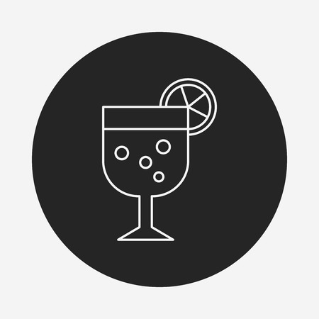 champagne cups: birthday drink line icon