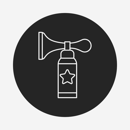 party horn blower: birthday party horn line icon Illustration