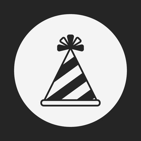 new year's cap: birthday hat icon Illustration