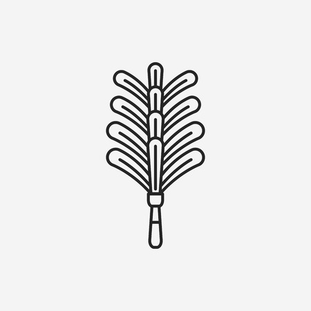 feather duster: feather duster line icon