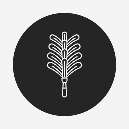 duster: feather duster line icon