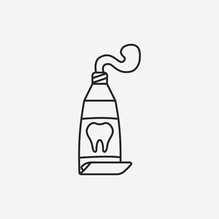 ointment: Toothpaste line icon Illustration