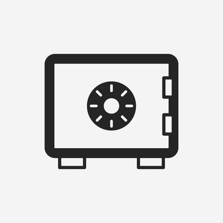 safety box: money safety box icon Illustration